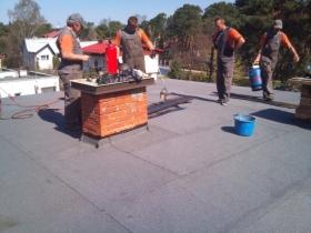 Krycie dachu papą termozgrzewalną cena