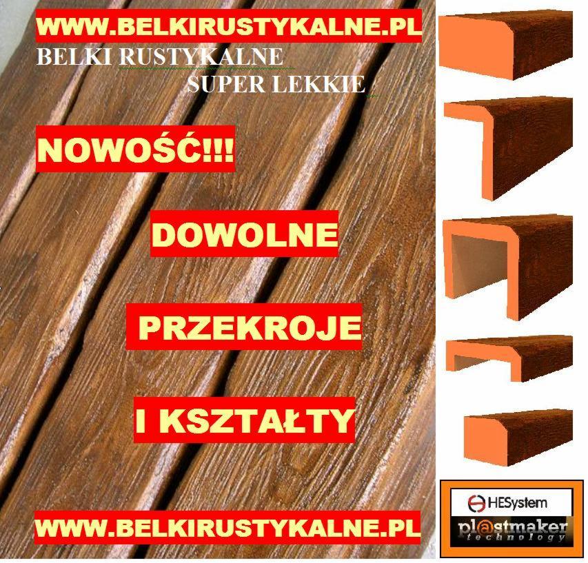 Belki Rustykalne Dowolne Przekroje Drewnopodone Maskownice