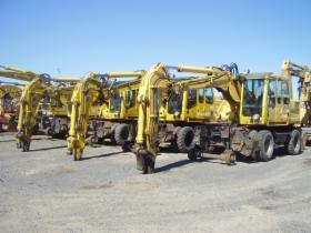 Maszyny i urządzenia budowlane do pracy na torach kolejowych.