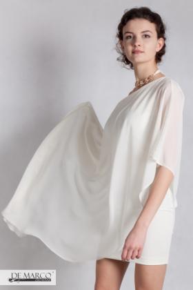 08834afe0f Ekskluzywna śmietanowa sukienka na wesele dla Pani młodej