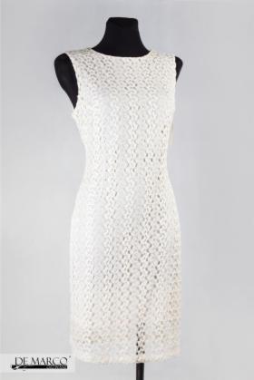 a35b0d3952 Elegancka koronkowa sukienka do pracy De Marco