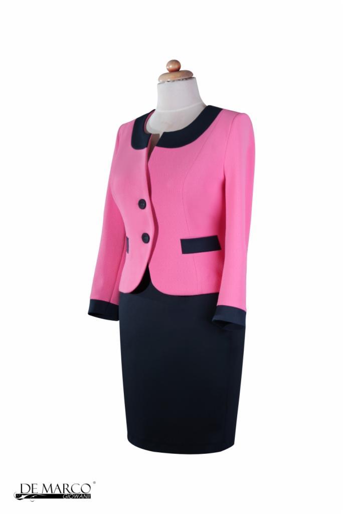 6d8e93c61b Elegancki kostium biznesowy do pracy Szycie na miarę De Marco ...