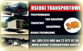 Usługi transportowe przeprowadzki bagażówka taxi bagażowe tani transport Warszawa Polska VAT