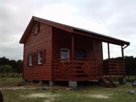 Domek drewniany o pow 25m2+poddasze użytkowe +taras zadaszony 10m2, oferta