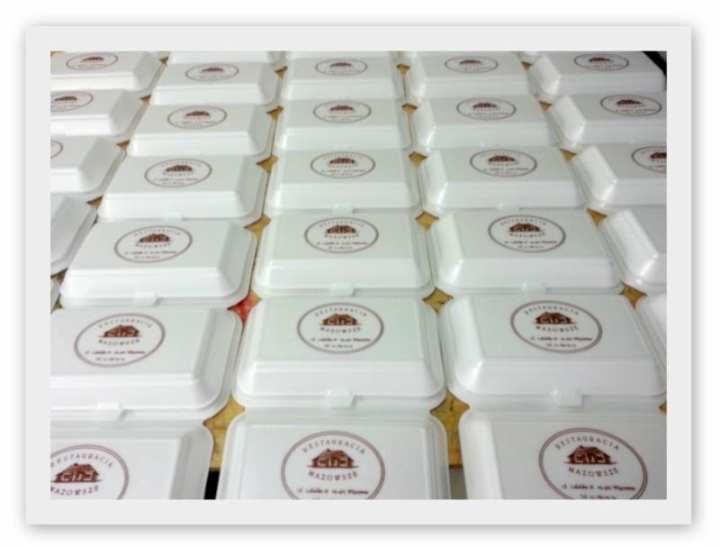 Aktualne Opakowania styropianowe - Pojemniki obiadowe z NADRUKIEM - Oferta YW33