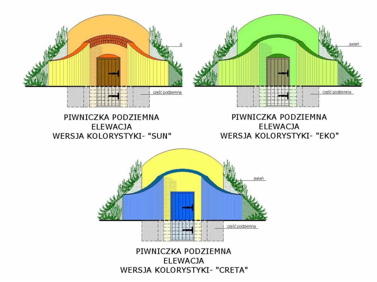 Popularne obiekty Piwniczka podziemna (ziemianka)- najtańsze projekty Lędziny  TI-12