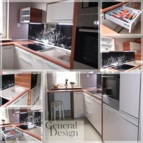 Grafika na szkle, eksluzywne kuchnie