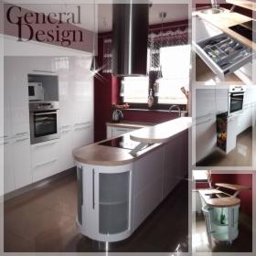 Ekskluzywne meble kuchenne, nowoczesne meble kuchenne, zabudowy, fronty lakierowane