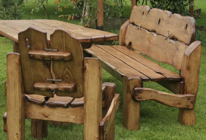 Meble ogrodowe tarasowe balkonowe z drewna Szczuczyn - Oferta nr 84814 - Oferteo.pl