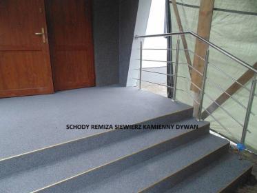 Kamienny dywan zamiast płytek 100% szczelność Taras balkon schody
