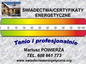 Świadectwa energetyczne. Dęblin, Ryki, Garwolin, Puławy, Lublin. Tanio., Dęblin, Ryki, Puławy, oferta