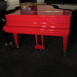 Czerwony Fortepian Ibach, długości 185cm