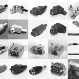 Akcesoria pomocnicze typu wtyczki, gniazda, taśmy izolacyjne, przewody, itp.