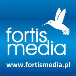 FORTIS MEDIA - logo, księga znaku, projektowanie graficzne, druk - Ulotki A6 Łódź