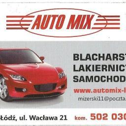 Auto Mix blacharstwo lakiernictwo tłumiki, konserwacja. www.automix-lodz.pl - Wymiana olejów i płynów Łódź