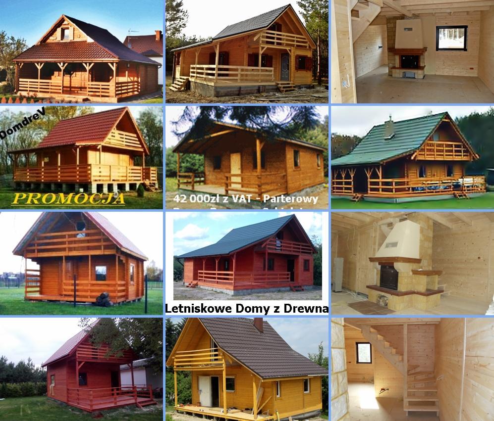 5e8f68d1fe97a3 Domy drewniane letniskowe całoroczne domKI z drewna Dom (Biały - 58.000 pln  BRUTTO)