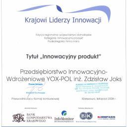 """""""YOX - POL"""" Przedsiębiorstwo Innowacyjno - Wdrożeniowe - Rury do Instalacji Wodnej Wrocław"""