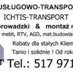 """Usługi transportowe przeprowadzki""""ICHTIS"""" - Transport busem Żyrardów"""