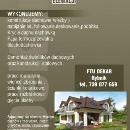 FTU Dekar Dekarstwo-Ciesielstwo Rybnik - Fundamenty Pod Dom Rybnik