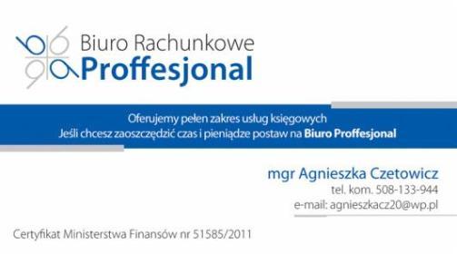 Biuro Rachunkowe Proffesjonal - Kancelaria Doradztwa Podatkowego Olsztyn