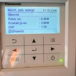 Panasonic Aquarea, powietrze-woda, COP: 7,50 :-))