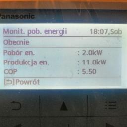 Panasonic Aquarea, T-CAP, powietrze-woda, COP: 5,50 :-)