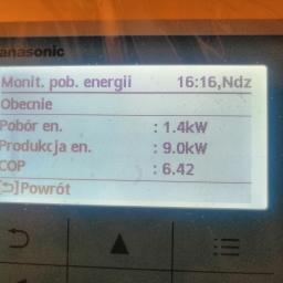 Panasonic Aquarea, T-CAP,  powietrze-woda, COP: 6,42 :-))