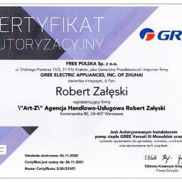 Pompy Ciepła GREE, Versati III - autoryzacja na splity i monobloki.