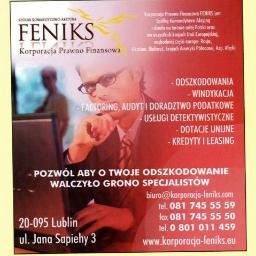 Korporacja Prawno-Finansowa Feniks - Ubezpieczenie firmy Lublin