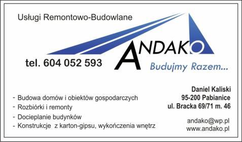 Andako Usługi Remontowo-Budowlane - Ocieplanie Pianką Pabianice