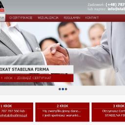 Certyfikat STABILNA FIRMA - Centrum Certyfikacji Firm - Obsługa prawna firm Warszawa
