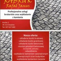 RABRUK Rafał Janus - Układanie kostki granitowej Kozów
