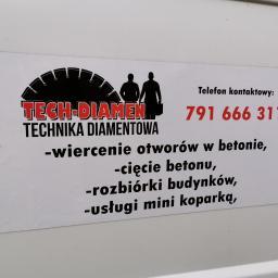 TECH-DIAMEN technika diamentowa Reszka Michał - Kucie Betonu Prabuty