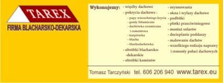 """""""TAREX"""" Tomasz Tarczyński - Dachy Częstochowa"""