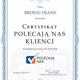 BRODA-TRANS Elżbieta Broda - Gaz Płynny Będzin