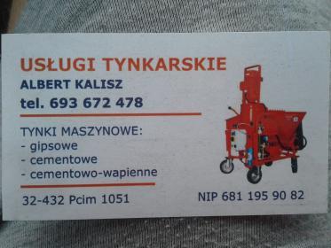 Usługi Tynkarskie Albert Kalisz - Murarz Pcim