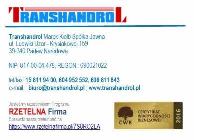 TRANSHANDROL Marek Kiełb Spółka Jawna - Pellet Padew Narodowa