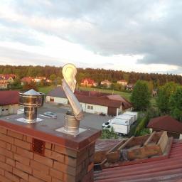 Wymurowanie komina+montaż strażaków spalinowych