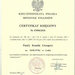 Kamila Grzegory Usługi księgowe - Biuro rachunkowe Tuszyn