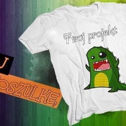 Fioletowa koszulka - Materiały reklamowe Olsztyn