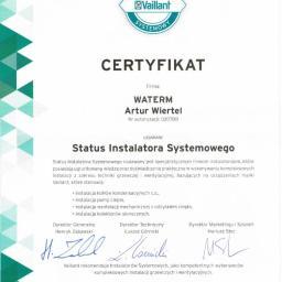 Certyfikat  Vaillant