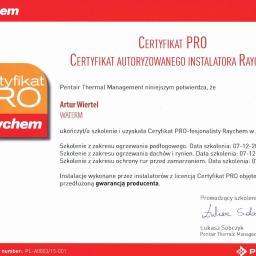 Certyfikat Raychem