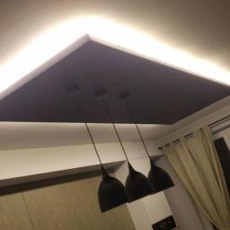 Sufit podwieszany z LED
