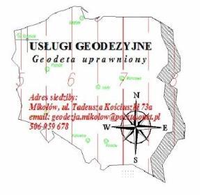 Usługi Geodezyjne geodeta uprawniony magr inż. Sebastian Staszak - Geolog Mikołów