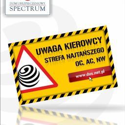 Dom Ubezpieczeniowy Spectrum - Naklejki Starogard Gdański