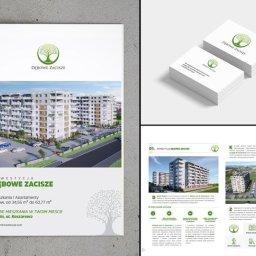 Katalog + wizytówki nowej inwestycji firmy deweloperskiej