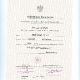 Osoba prywatna Sławomir Grześ - Szpachlowanie Białystok