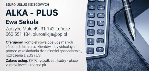 "FHU ""ALKA-PLUS"" - Biuro rachunkowe Leńcze"