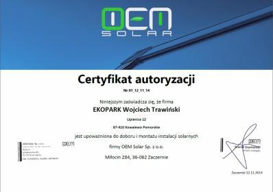 EKOPARK SA - Kolektory słoneczne Kowalewo Pomorskie