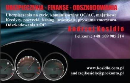 Finanse dla Firm. Firmowe Konta Bankowe, Leasing, Kredyty, Ubezpieczenia, Inwestycje. Andrzej - Ubezpieczenie firmy Lubartów